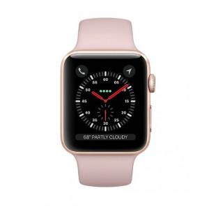 ساعت هوشمند اپل واچ 3 مدل 38mm Gold Aluminum Case with Pink Sand Sport Band