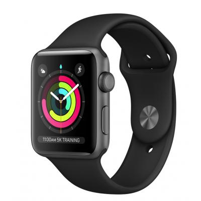 ساعت هوشمند اپل واچ 4 سایز 40 میلیمتری | 40mm Space Gray Aluminum Case with Black Sport Band
