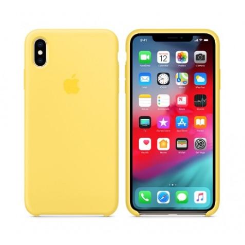 قاب سیلیکونی آیفون XS Max اصلی زرد