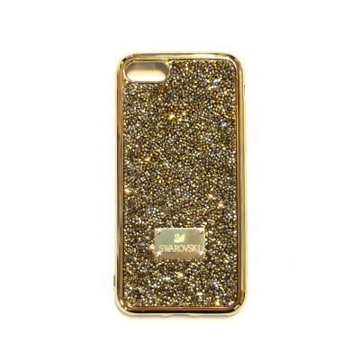 گارد SWAROVSKI رنگ طلایی طرح پولکی مناسب برای آیفون 7 و 8 و SE 2020